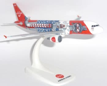Airbus A320 Air Asia Thailand Herpa Snap Fit Collectors Model Scale 1:200 E