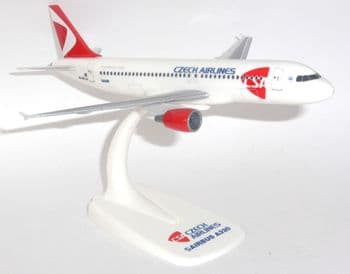 Airbus A320 CSA Czech Airlines Herpa Snap Fit Collectors Model Scale 1:200 E