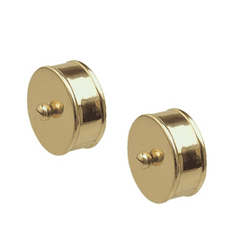 Brass Round Handrail End Caps for 54mm Mopstick Pack of 2