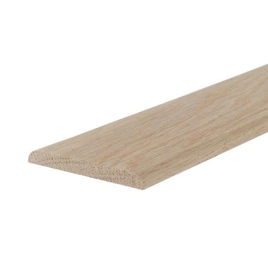 Oak 7mm Flat Beading - 1 Round Edge