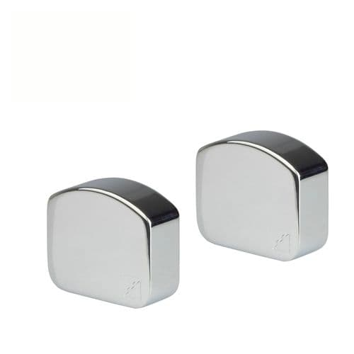 Elements Wall Handrail End Caps in Polished Chrome (Pack of 2)
