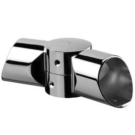 Fusion Chrome Adjustable Landing  Connector for Handrail to Handrail