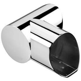 Fusion Chrome Left Hand Horizontal Turn for Landing Handrail