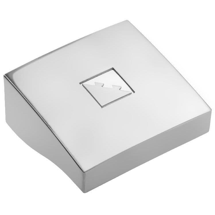 Fusion Chrome Newel Post Cap 90x90mm Square
