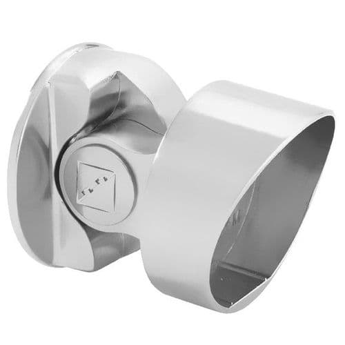 Fusion Chrome Storey Newel Connector for Handrail to Square Newel