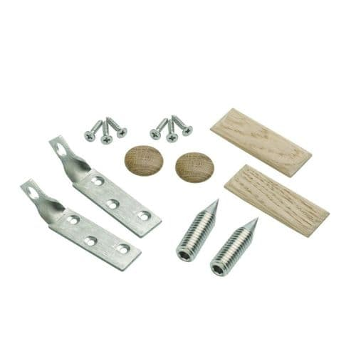 Handrail to Newel Post Fixing Kit for Raked Staircase