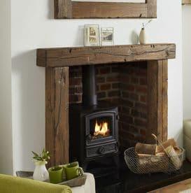 Oak Fire Surround Solid European Character Beam - Reclaimed