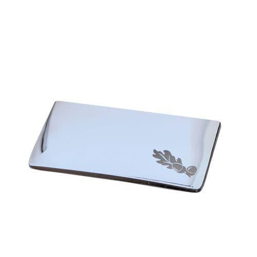 Polished Chrome Slimline Metal Newel Post Cap for Half 90mm Newel