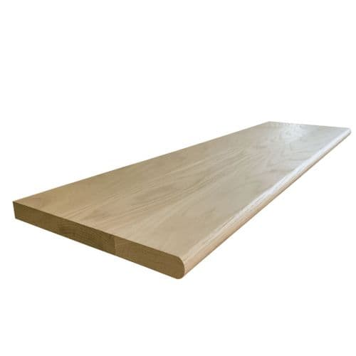 Solid Oak Stair Tread Un-Grooved 22x270x1000mm
