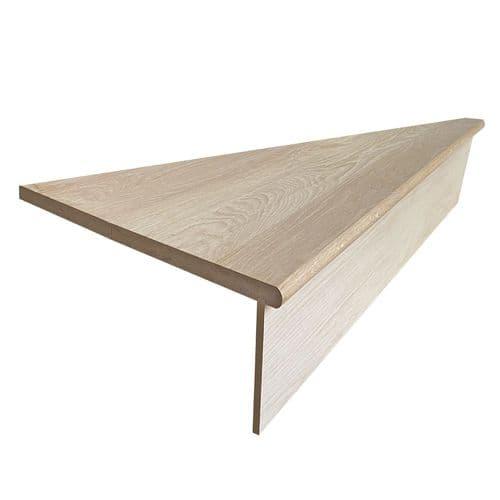 Solid Oak Stair Winder Tread Cladding Kit 22x520x1000mm