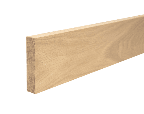 Solid White Oak 15x95mm Worktop Upstand Square Edge