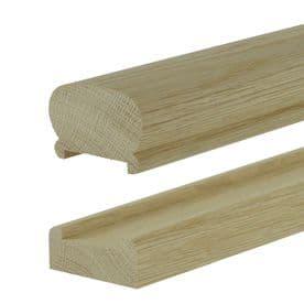 Solid White Oak Crown Handrail & Baserail Kit 41mm Groove