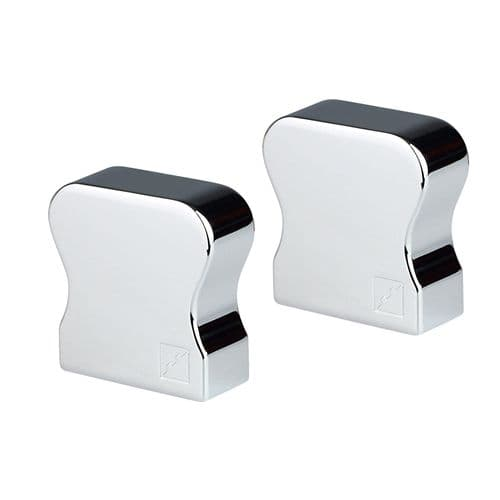 Trademark HDR Wall Handrail End Caps in Polished Chrome (Pack of 2)