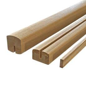 White Oak Icon Handrail & Baserail Set for Glass Panel 8mm or 10mm