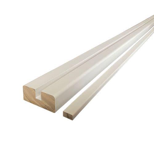 White Primed 4.2m Vision Base Rail for Glass Panel 8mm