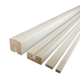 White Primed 4.2m Vision Handrail & Baserail Set for Glass Panel 8mm