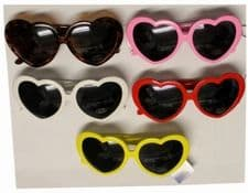 Neon Heart Glasses