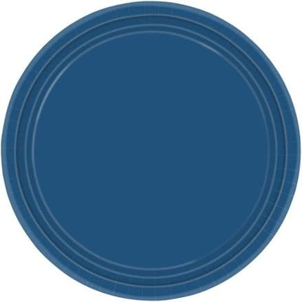 "16 Royal Blue Paper Party Plates 9""/23cm"