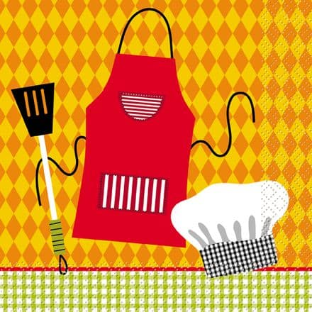 16 Summer Barbeque Paper Party Napkins