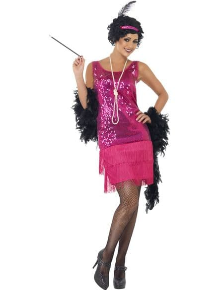 1920's Funtime Flapper Dress Pink