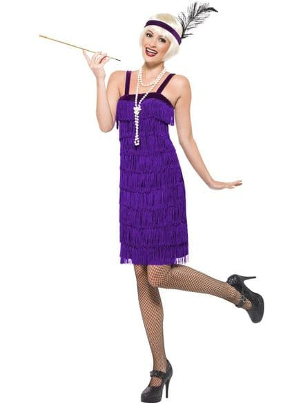 1920's Jazz Flapper Dress Lilac