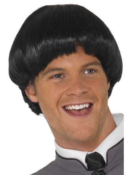 1960's Bowl Cut Wig In Black