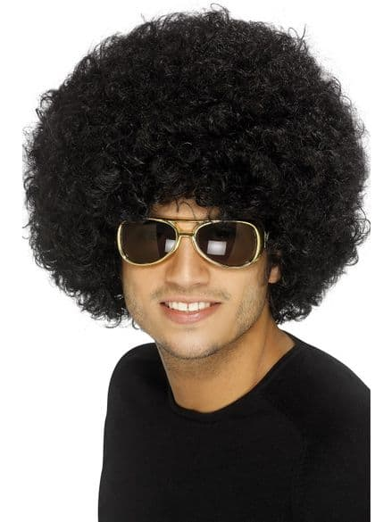 1970's Afro Wig In Black