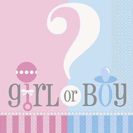 20 Gender Reveal Baby Napkins