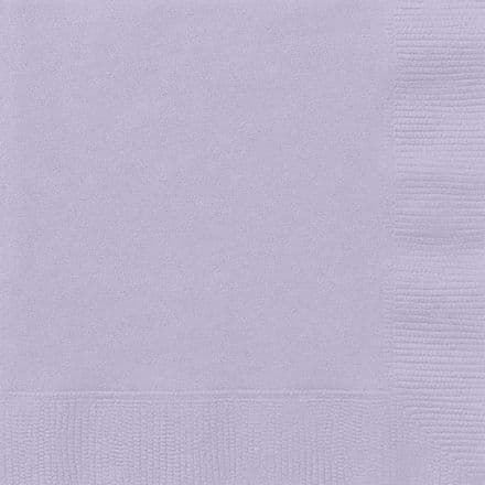 20 Lavender Paper Party Beverage Napkins
