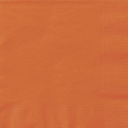 20 Orange Paper Party Berverage Napkins