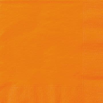 20 Orange Paper Party Luncheon Napkins