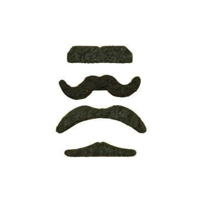 4 Stick-On Moustaches