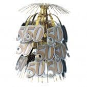 50th Anniversary Golden Wedding Table Centrepiece