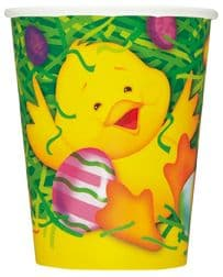 8 Easter Ducky Theme Paper Party Cups