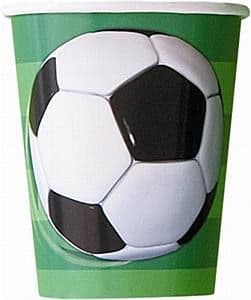 8 Football Paper Party Cups