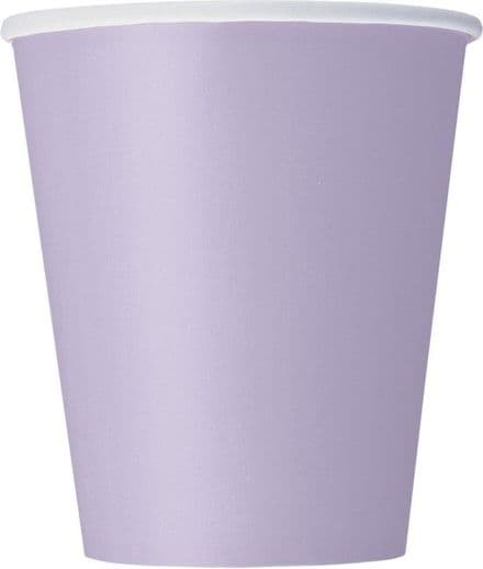 8 Lavender Paper Party Cups