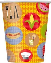 8 Luau Summer Barbeque Paper Party Cups
