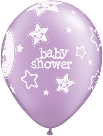 Baby Shower Moons & Stars Balloons 6 Pack