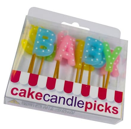 Baby Shower Pick Candles