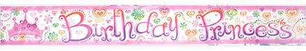 Birthday Princess Party Foil Banner
