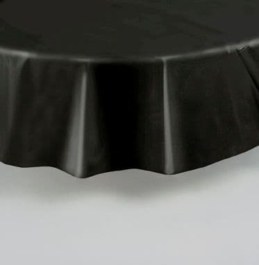 "Black Round Tablecover 84""/ 213cm Diameter"