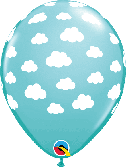 Blue Clouds Latex Balloons