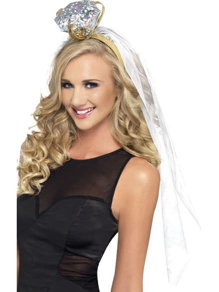 Bride To Be Ring Headband With Veil