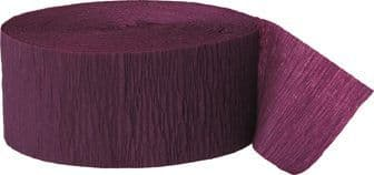 Burgundy Crepe Paper Streamer Roll 81ft