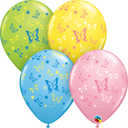 Butterfly Print Latex Balloons