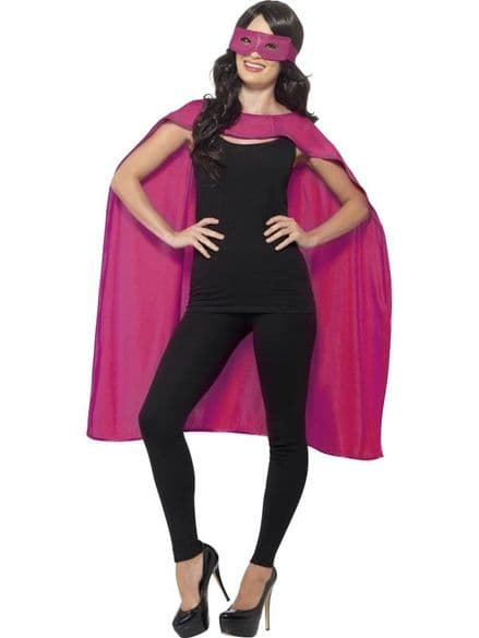 Cape & Eyemask In Pink