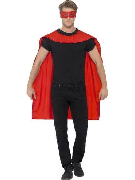 Cape & Eyemask In Red