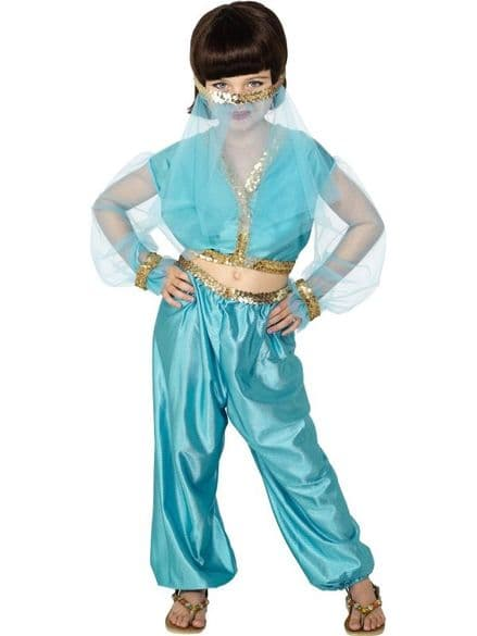 Childs Blue Arabian Princess Costume