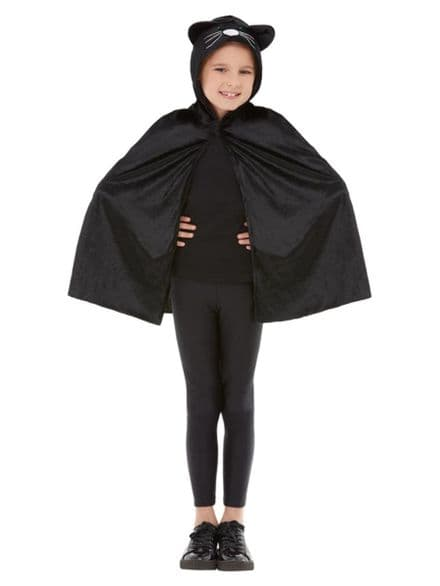 Childs Cat Hooded Cape