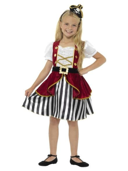 Childs Deluxe Pirate Girl Costume